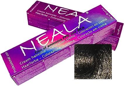 Tintes Profesionales SIN AMONIACO y libre de PPD y MEA - 3.1- Castaño Oscuro Ceniza - NEALA 100ml.