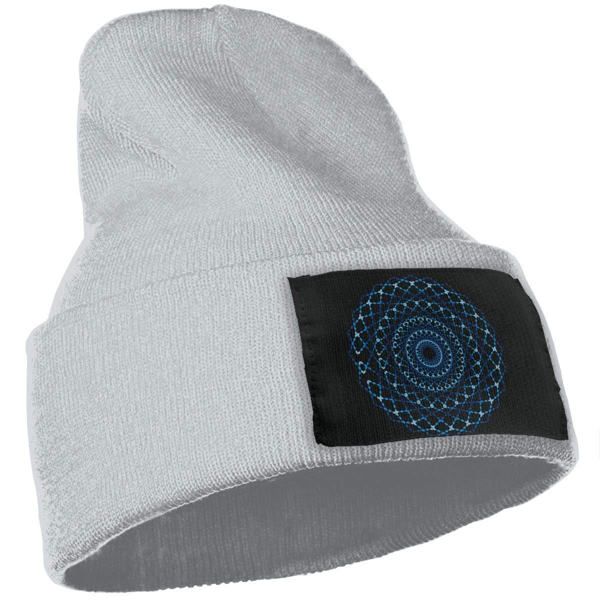 SLADDD1 Circle Pollution Symbol Warm Winter Hat Knit Beanie Skull Cap Cuff Beanie Hat Winter Hats for Men /& Women