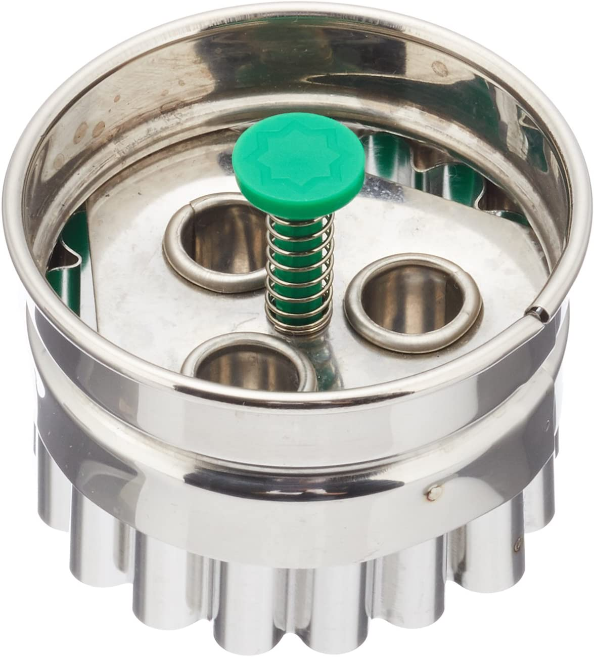 Staedter Linzer 3-Hole Cookie Cutter with Ejector, Stainless Steel, Multi-Colour, 30 x 4.8 x 30 cm