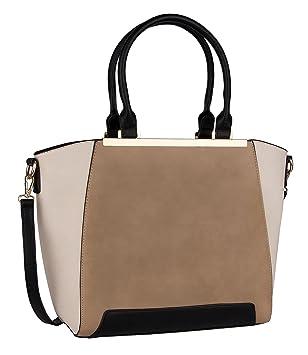 059e67646e1b6 SIX Elegante Damentasche  Colour-Block Handtasche in Leder-Optik ...
