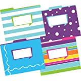 Barker Creek Fashion File Folders - Happy, Set of 12 (LL-1334)