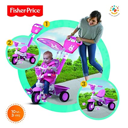 Fisher Price Juguetes Para 1 Ano.Fisher Price Triciclo 3 En 1 Smart Trike Para Nina Rosa