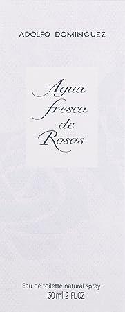 Adolfo Dominguez Eau de Toilette Spray for Women, Agua Fresca De Rosas, 2 Ounce