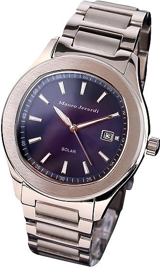[マウロジェラルディ] 腕時計 ソーラー 3針 デイト MJ053-2 メンズ シルバー