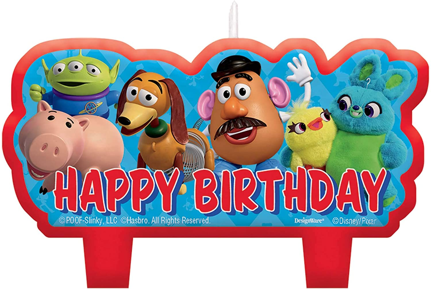 Brilliant Amazon Com Amscantoy Story 4 Blue And Red Birthday Cake Candle Personalised Birthday Cards Rectzonderlifede