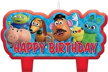 Amazon.com: Juego de 4 velas de cumpleaños de Toy Story ...
