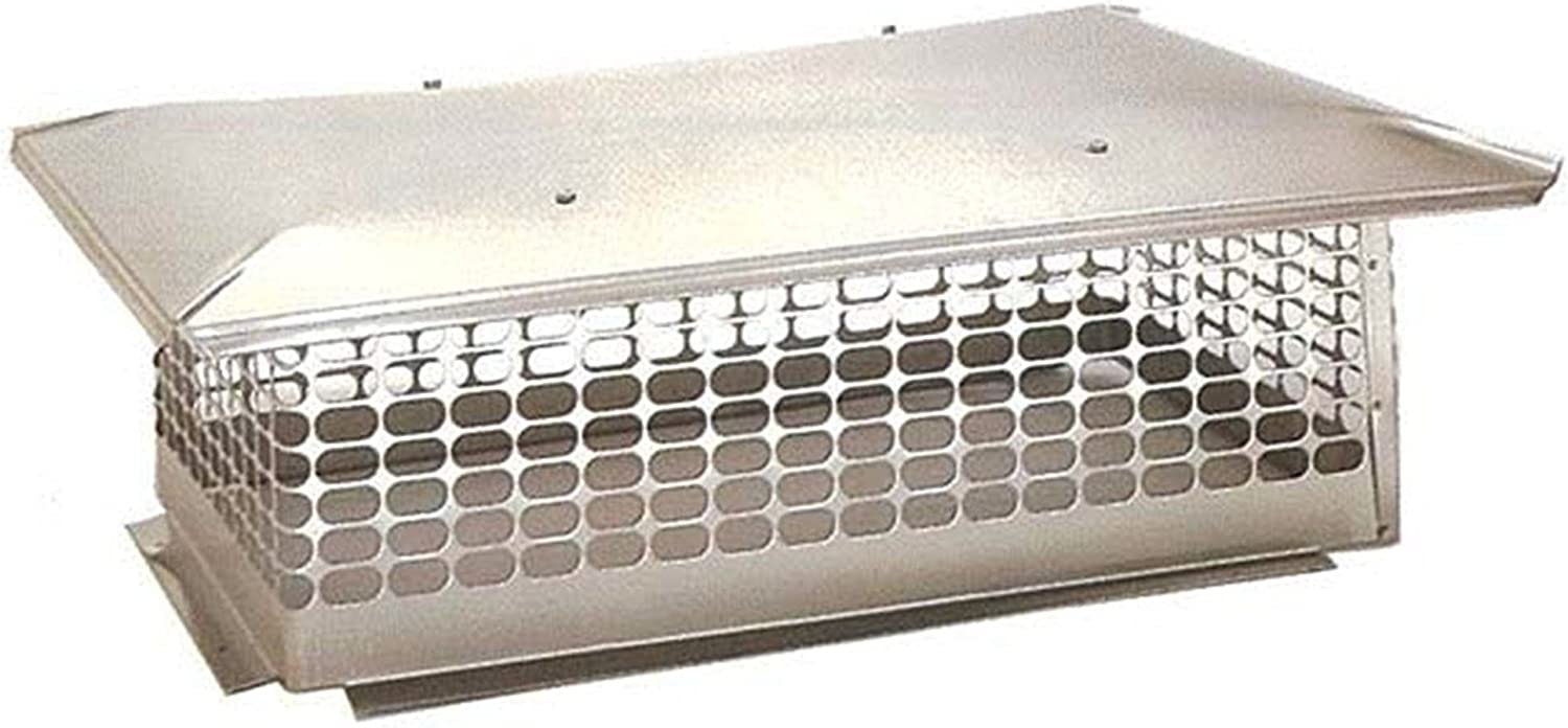 The Forever Cap CCSC958 9 x 58-Inch Multi Flue Stainless Steel Crown Mount Chimney Cap 1-Pack