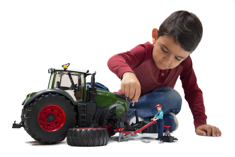 04041 BRUDER Tracteur FENDT 1050 Vario vert avec mécanicien et accessoires de dépannage