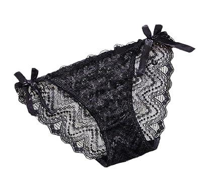 03104dd4bf0 Sebaby Womens 3 Pack Vintage Lace Breathable Mesh Lingerie Panties Black S