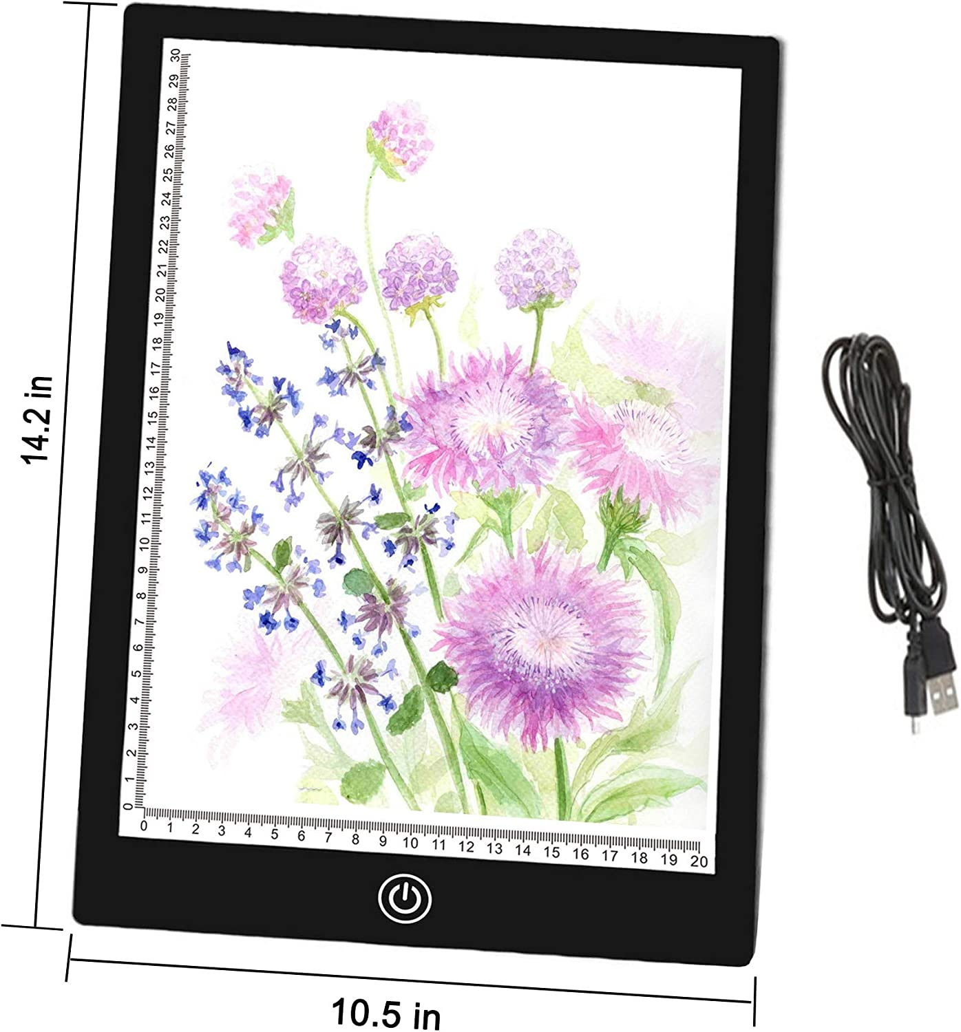 A4 Diamond Painting  LED Tracing Light Board for Artists,Drawing Animation Sketching White