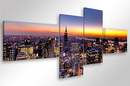 Degona quadro moderno manhattan skyline cm stampa su tela
