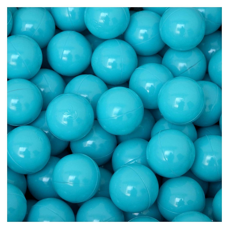 LittleTom 50 Bolas de PE 5,5cm de diámetro para llenar Piscinas para niños Azul