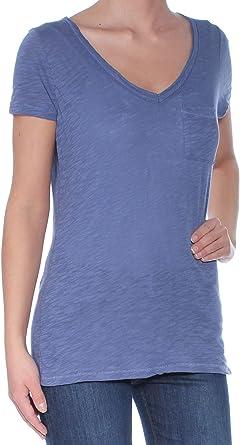 Maison Jules Womens Finely Lined Basic T-Shirt