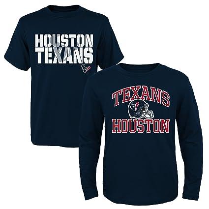 0785bccf7 Amazon.com   NFL Youth Boys 8-20 Houston Texans Short Long Sleeve ...
