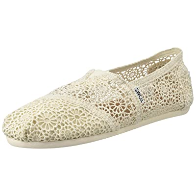 TOMS Women's 10007858 Natural Moroccan Crochet Alpargata | Loafers & Slip-Ons