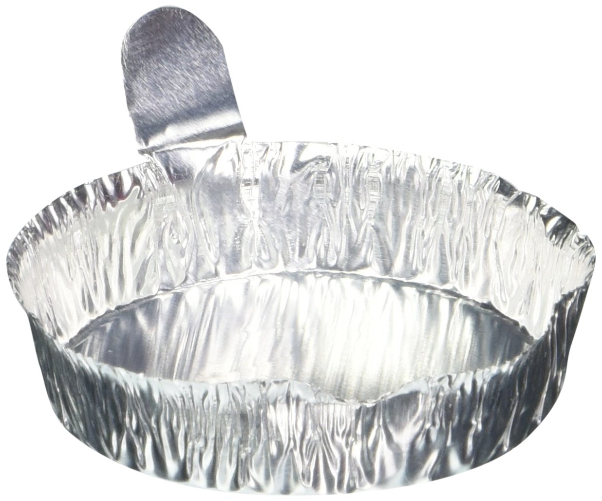 Heathrow HS14521B Aluminum Weighing Dishes, Medium, 57 mm Diameter x 14 mm Height (Pack of 100) by Heathrow Scienitific (Image #1)