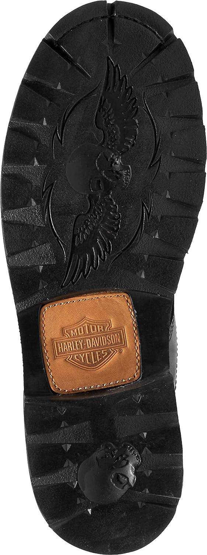 Harley Davidson Broxton Mens Leather Biker Chukka Ankle Boots