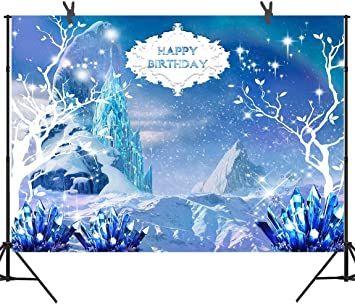 8x8FT Vinyl Photo Backdrops,Winter,Fantasy Snow Queen Background for Selfie Birthday Party Pictures Photo Booth Shoot