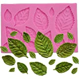 Wocuz Mini Rose Leaves Silicone Mold Fondant Mold Cake Border Cupcake Silicone Lace Mat Mold Decoration Tool 3.9