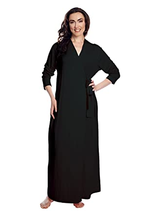 Shadowline Women\'s Women\'s Before Bed Long Wrap Robe at Amazon ...