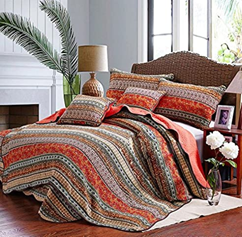 Vclife® Baumwolle Tagesdecke Bettdecke Schlafzimmer Bettüberwurf