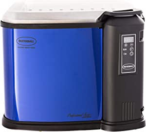 Butterball Masterbuilt XXL Digital Electric Indoor 22-Pound Turkey Fryer with Basket, Lid and Drain Valve, Blue