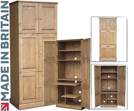 Escritorio de madera de pino maciza, grandes Triple 6 puerta ...