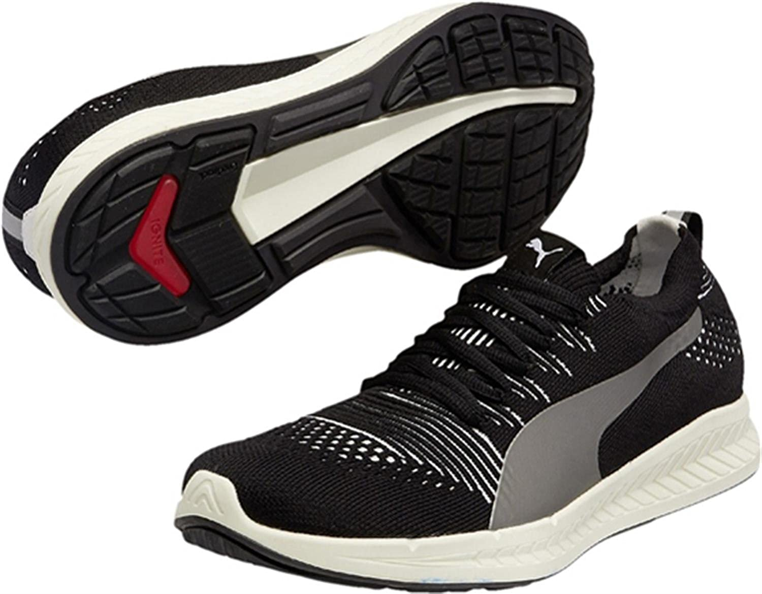 Puma Men s Ignite Proknit Black and White Running Shoes - 8 UK India (42  EU)  Buy Online at Low Prices in India - Amazon.in f342cdcea