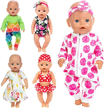 Heart Print 1 PC Swimsuit 15 in Bitty Baby Doll Clothes Fits American Girl