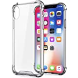 JGD PRODUCTS Shock Proof Protective Soft Back Case Cover for iPhone X/XS (Transparent) [Bumper Corners with Air Cushion Technology]