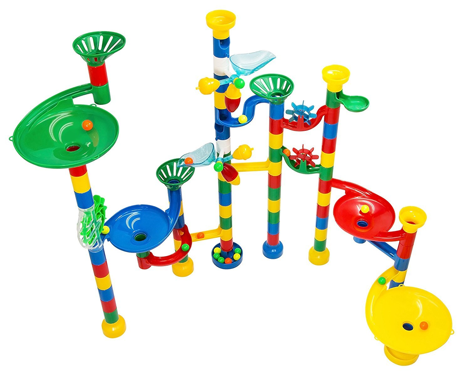 Marble Run Maze Ball Game - 85 Piece Marble Maze STEM Educational Toys for Kids Set Includes 50 Marbles Review