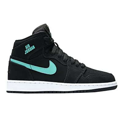 ed7db3a9d5b8 NIKE Youth Air Jordan 1 Retro High Leather Trainers  Amazon.co.uk  Shoes    Bags
