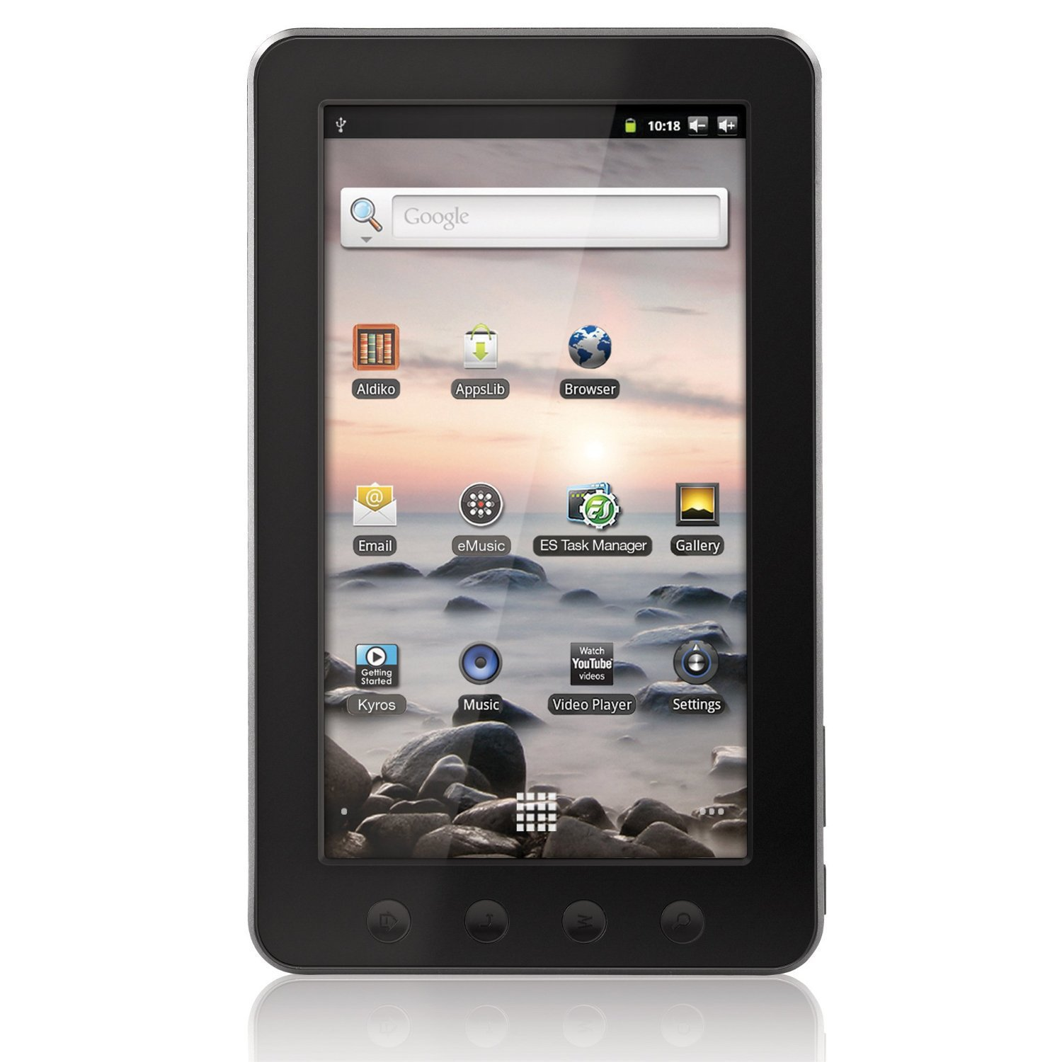 Coby Kyros 7-Inch Android 2.3 4 GB Internet Touchscreen Tablet - MID7012-4G (Black)