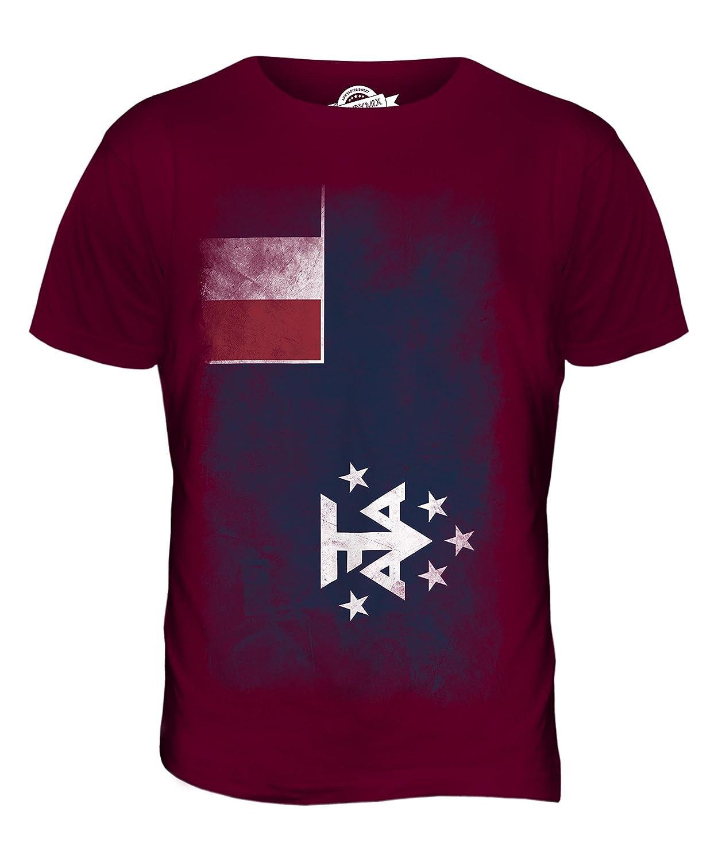 CandyMix Französische Süd- Und Antarktisgebiete Verblichen Flagge Herren T  Shirt: Amazon.de: Bekleidung
