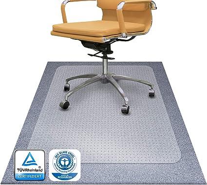 4 Gr/ö/ßen w/ählbar Bodenschutzmatte PET /®Performa f/ür Hartboden mit T/ÜV und Blauer Engel 115x135cm