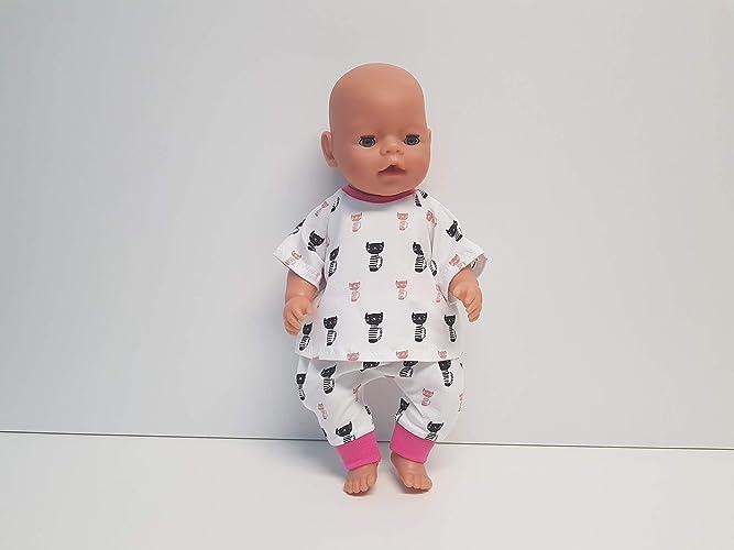 MepsiDesigns Handmade Puppenkleidung Set 4tlg für 43cm Baby Born NEU Puppen & Zubehör