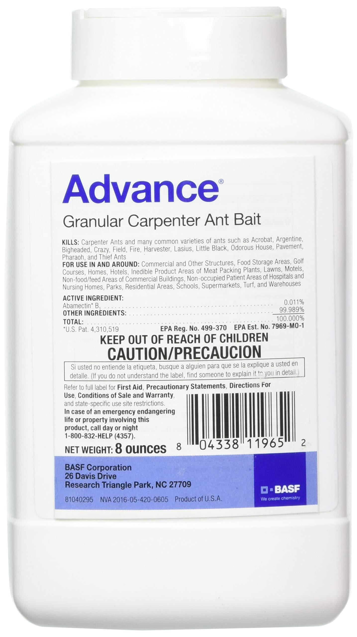 BASF 396153 Advance Granular Carpenter Ant Bait, 8oz by BASF