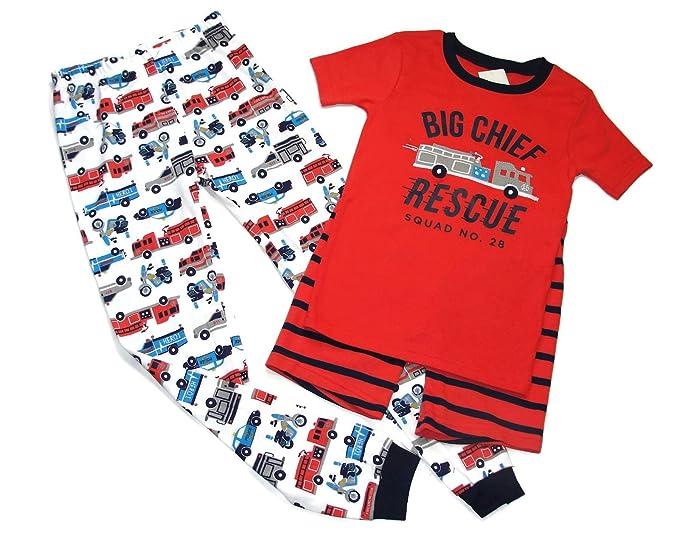 14f47d5d2473 Amazon.com  Carter s Boy s 3-Piece Pajama Fire Chief Rescue Pajama ...
