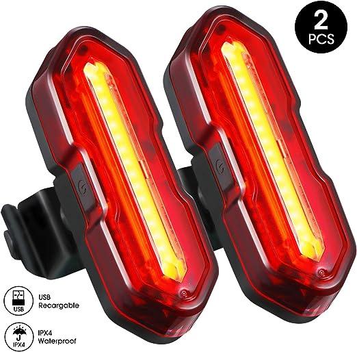 Topelek - Set de luces para bicicleta, batería trasera, luz piloto ...