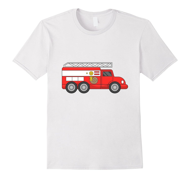 Fire Truck Halloween Costume Firefighter Fireman T-Shirt-T-Shirt