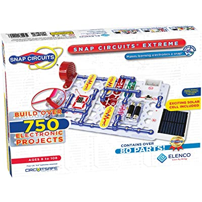 Elenco Snap Circuits Extreme SC-750 Electronics Exploration Kit | Over 750 Projects | Full Color Project Manual | 80+ Snap Circuits Parts | STEM Educational Toy For Kids 8+: Toys & Games