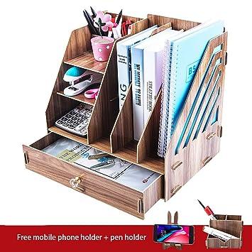 Schreibtisch Organizer Holz Schreibtischorganizer Storge Box Regal Schubladen