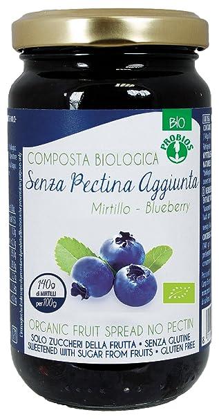 Probios Compota de Arándano, con Azúcar de La Fruta - Paquete de 6 x 220