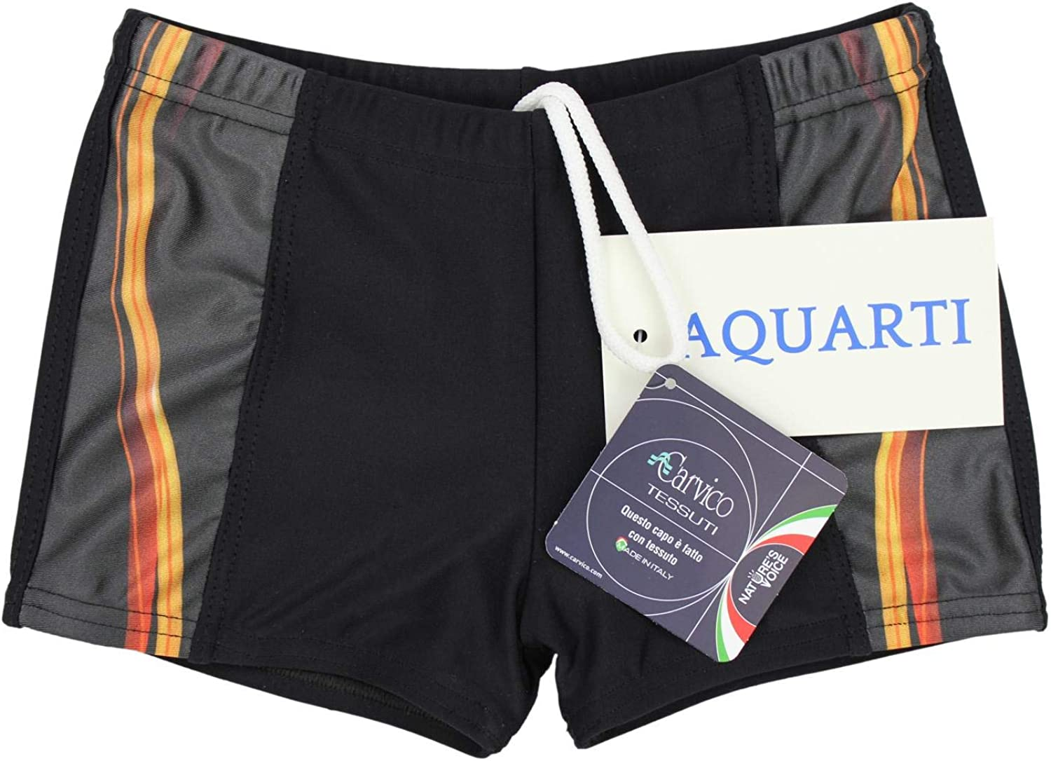 Aquarti Boys Swimming Trunks Contrast Stripe Boxer