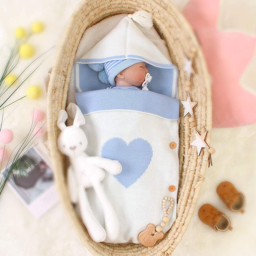 Saco de Dormir para Recién Nacidos Manta para Dormir Bebé con Capucha Manta Saco Niños Niñas Infantil Cálido Bebé Envolvente Manta de Algodón ...