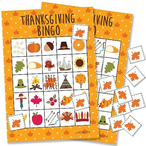 graphic regarding Free Printable Thanksgiving Bingo Cards referred to as Thanksgiving Bingo Recreation - 24 Gamers