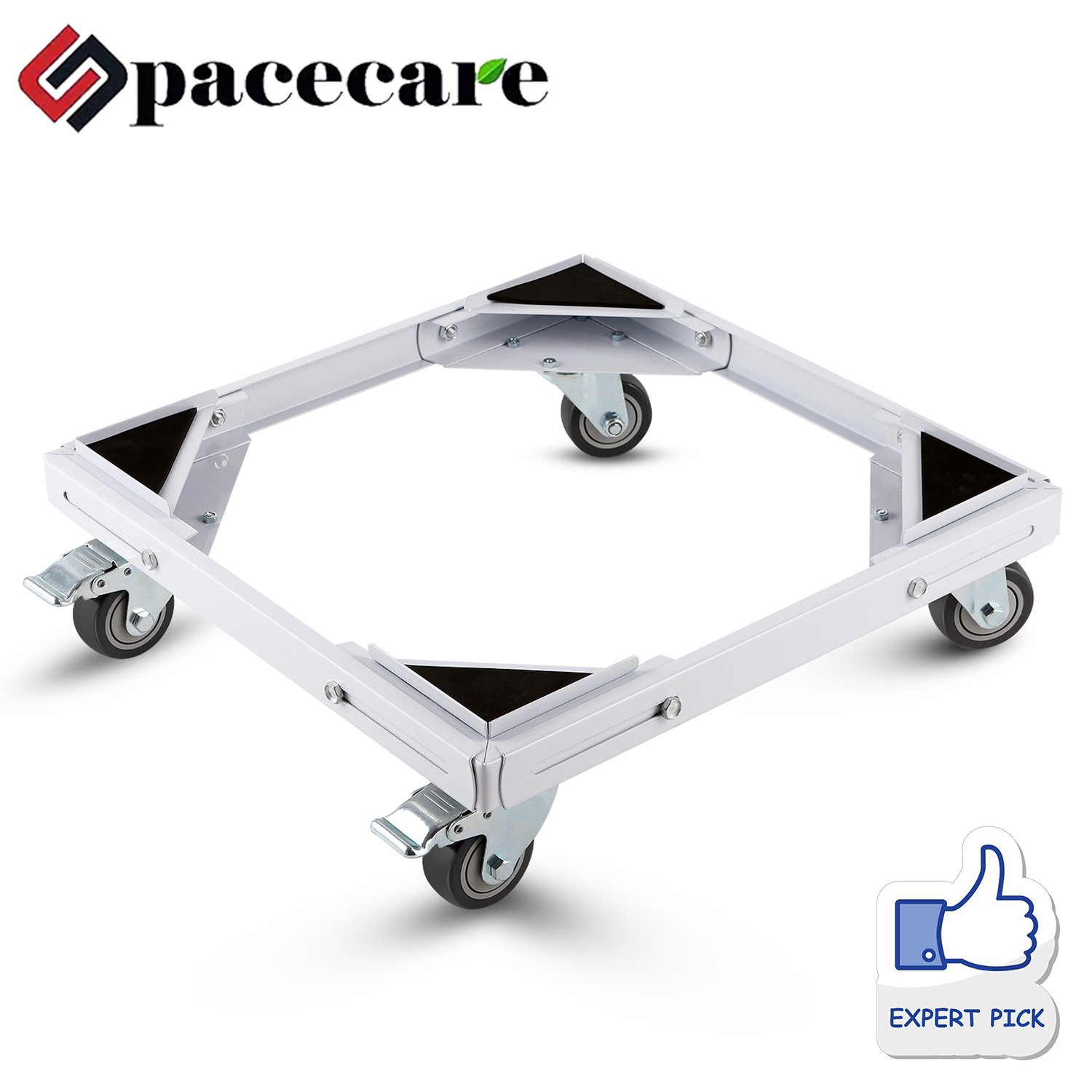 SPACECARE Telescopic Furniture Dolly Roller with Swivel Locking Casters, Steady Steel Frame, STFD008 [New Version]