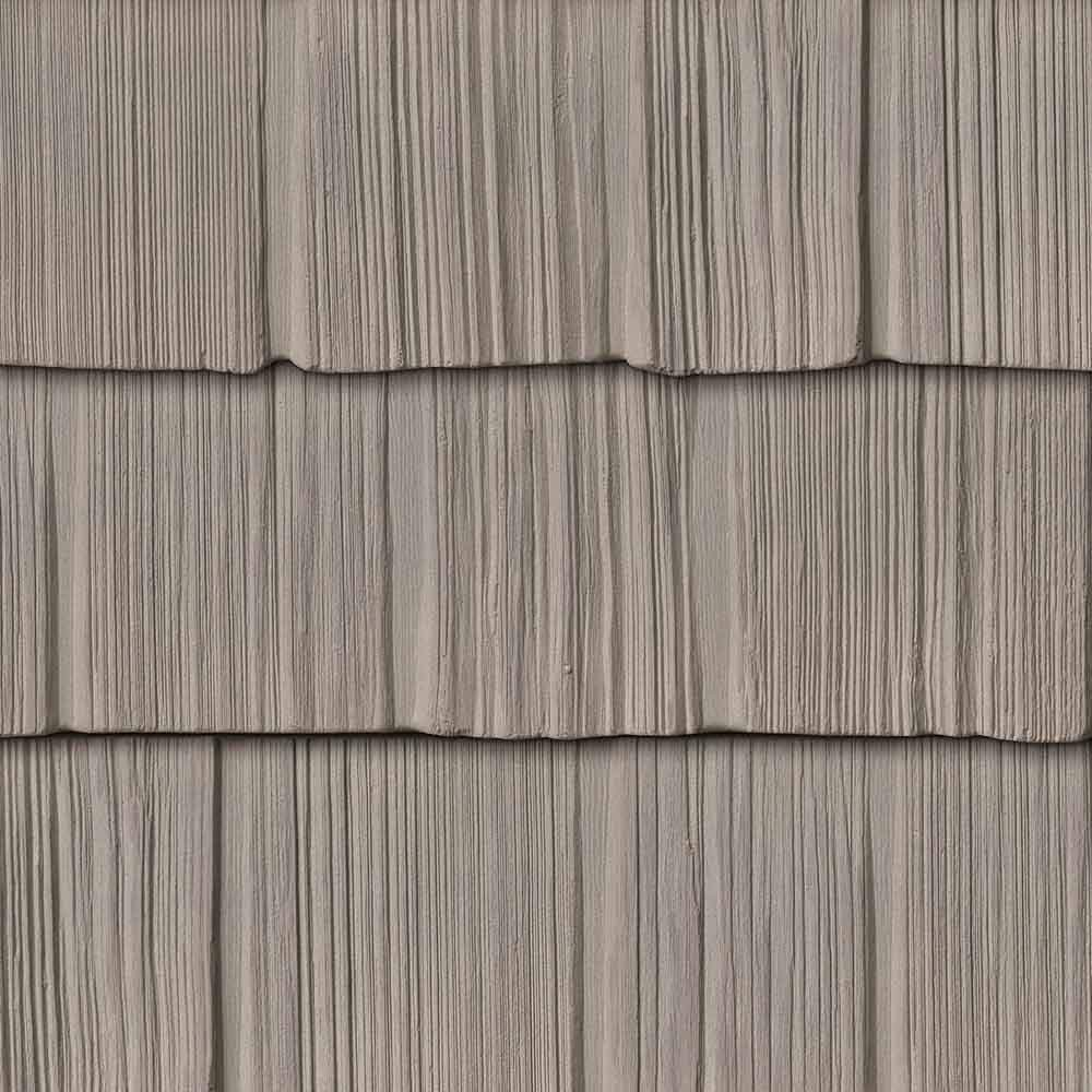 The Foundry 7'' Vinyl Weathered Staggered & Split Shake - 1/2 Square by The Foundry