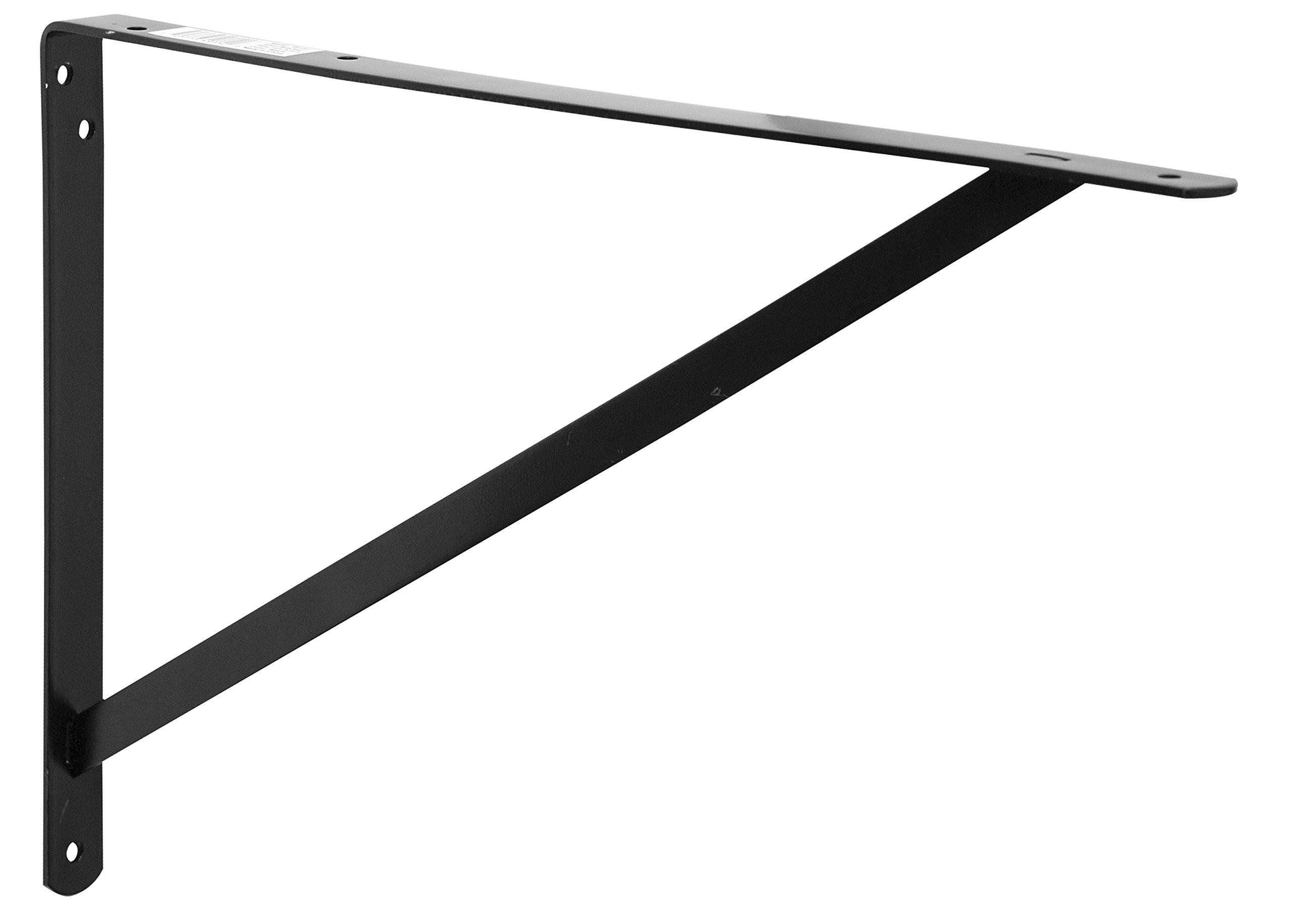 Decko 49152 Heavy Duty Shelf Bracket, 19.25-Inch by 12.50-Inch, Black, 10-Pack by Decko (Image #1)
