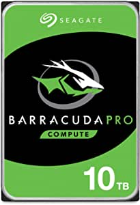 Seagate BarraCuda Pro 10TB Internal Hard Drive Performance HDD – 3.5 Inch SATA 6 Gb/s 7200 RPM 256MB Cache for Computer Desktop PC Laptop, Data Recovery – Frustration Free Packaging (ST10000DM0004)
